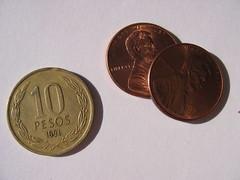 Chilean 10 peso coin