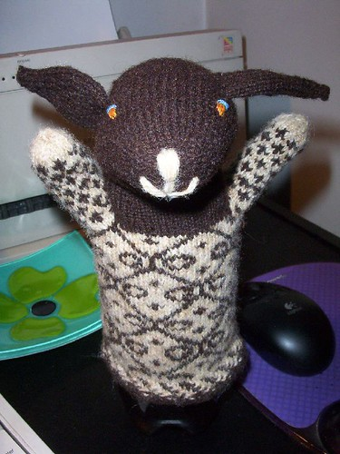 tada!  Ms. Sheep Puppet!