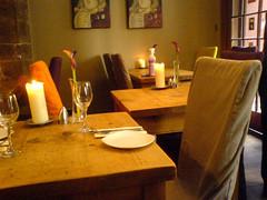 Ground floor dining Room at Edinburgh's Maison Bleue