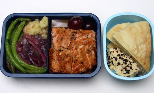 Salmon & green bean lunch お弁当