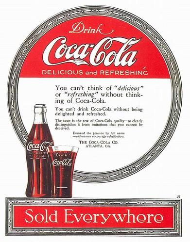 Coca-Cola ad, 1919