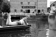 Helena poses on a punt