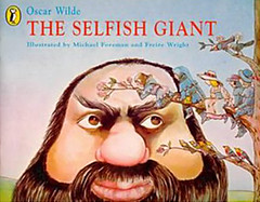 The Selfish Giant, a story by Oscar Wilde which he wrote with the intention that it is read to children.