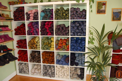 Knitting Wool Shops : The whole shop smells of wool, and the shop is really worth a visit!