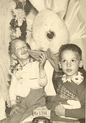 Dan, Ray, and Easter Bunny, 1956?