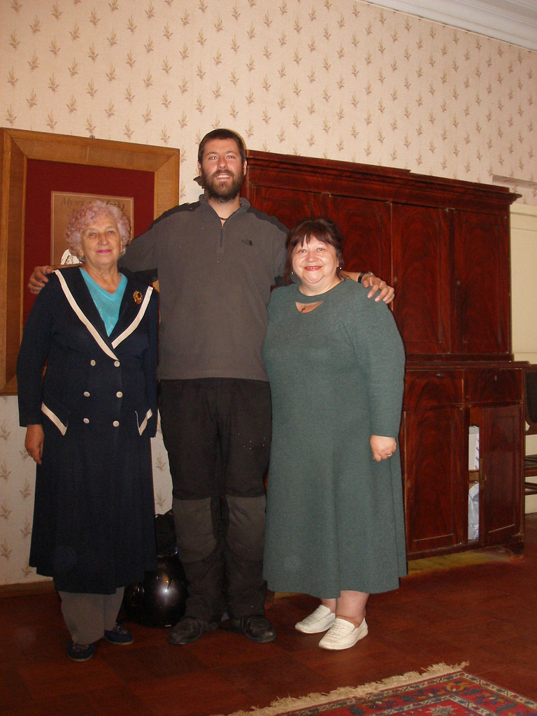Peter and the ladies at Gorky's house