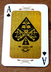 detail of ace of spades