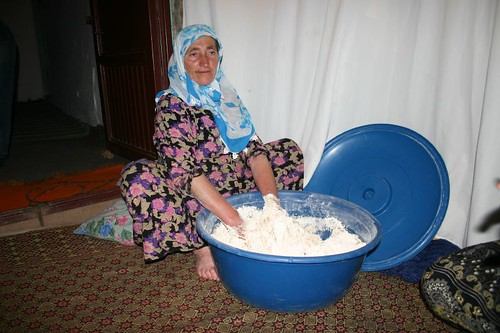 Preparing next weeks bread. Nemrut Dag, Eastern Turkey.