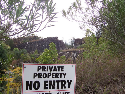 Old quarry building site John Whiteway Drive Gosford
