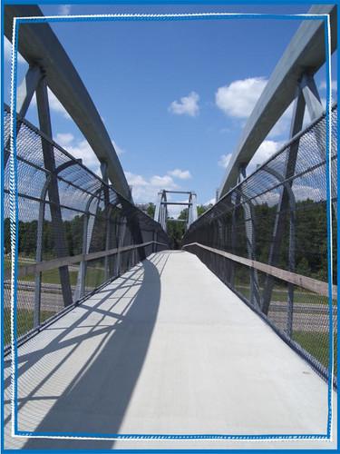 riding across the 440 bridge