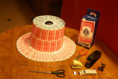 Top hat made of playing cards