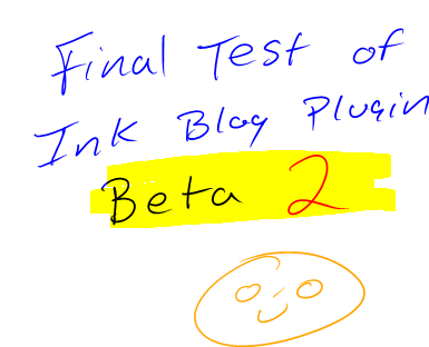 Ink blog pluging beta 2
