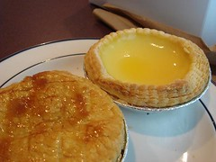 Custard Tart and Chicken Pie