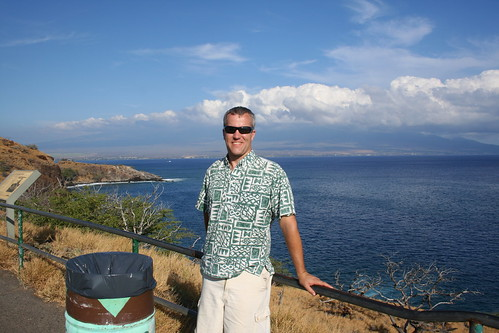 My gorgeous husband and Haleakala in the distance
