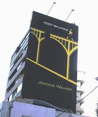 foto anuncio Johnnie Walker en Beirut
