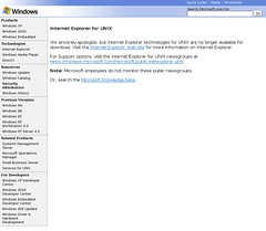 Internet Explorer for UNIX Home Page