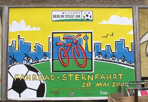 Großplakat zur Fahrradsternfahrt