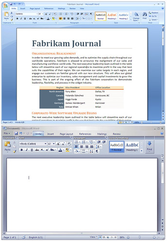 Office 2007 Comparison