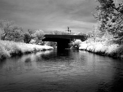 HDR IR 401 bridge over Bowmanville Creek
