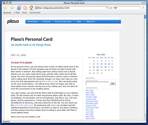 Old Plaxo Blog Template