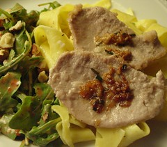 Veal Scallopini with Arugual Salad