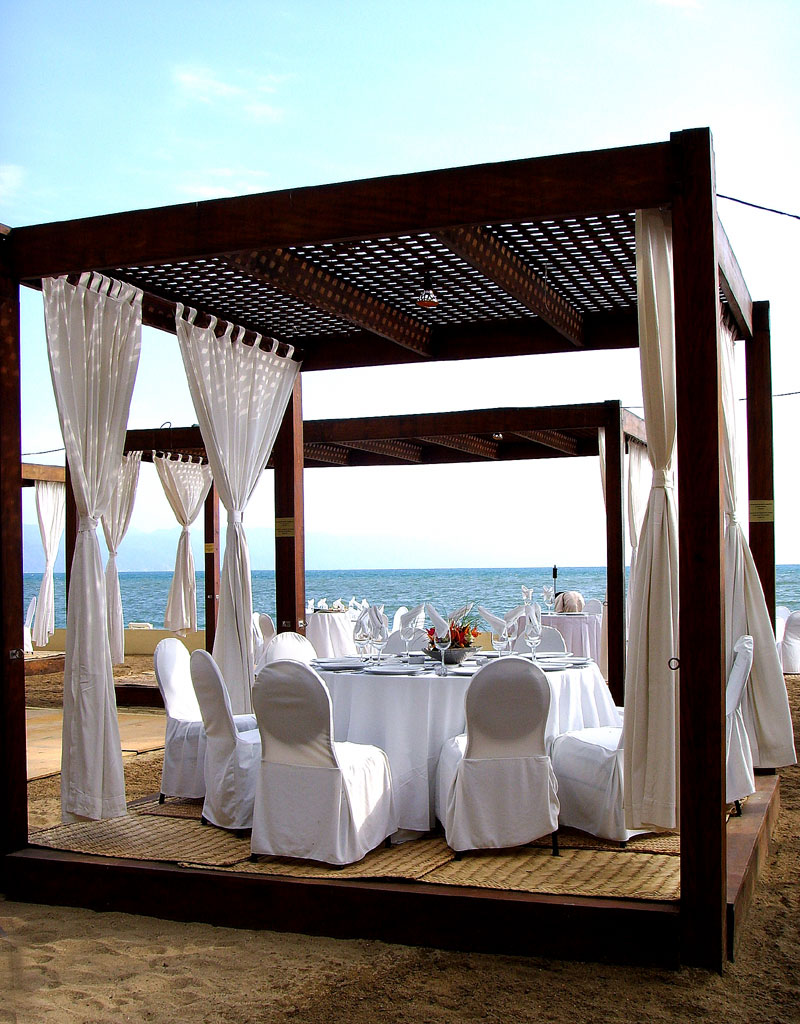 puerto vallarta wedding reception pergola