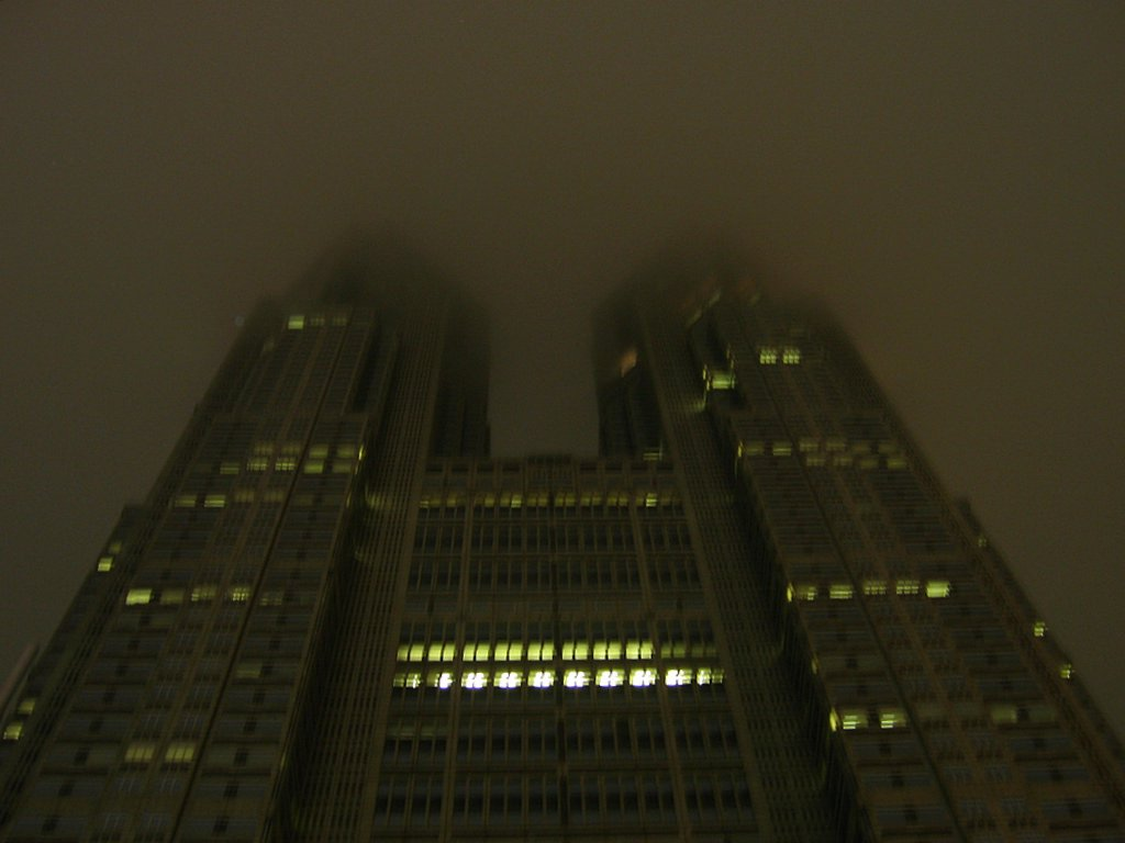 The Tokyo Metropolitan Government building at night