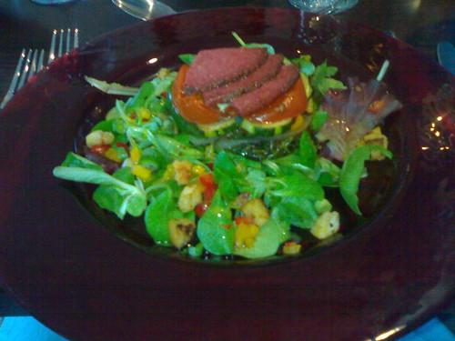 Salad with Salami