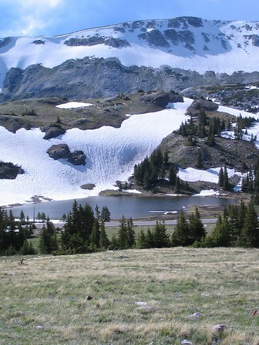 Snowy Range and Bellamy Lake