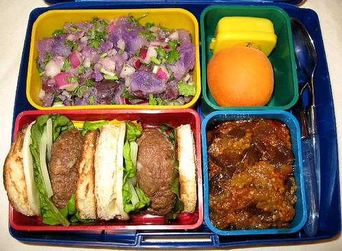 Mini-cheeseburger Laptop Lunch for adult お弁当