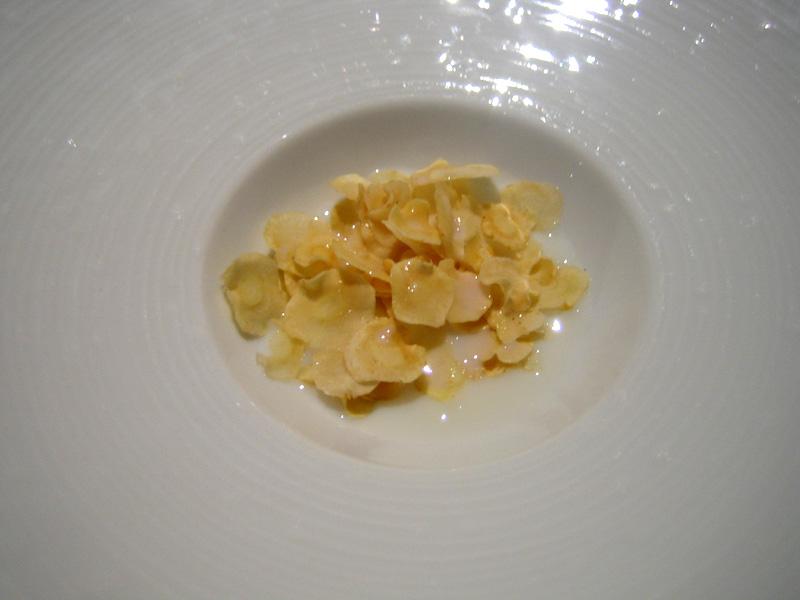 Fat Duck - Parsnip Chips w/ Parsnip Milk