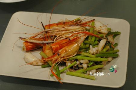 蘆�炒泰國蝦和墨�