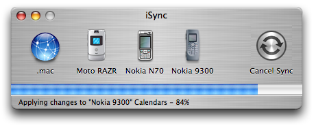 iSync works after flattening the 9300 memory