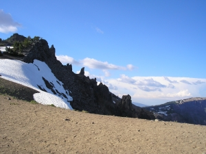 Edge of the top of Crater Lake