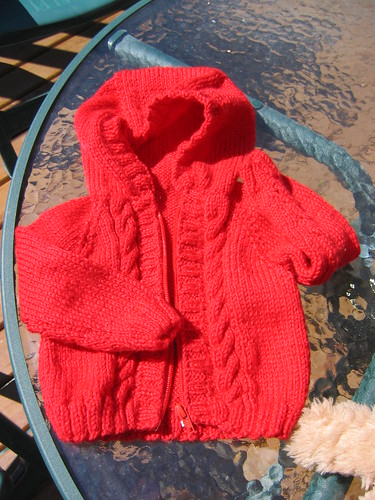 f6f6657d0 Baby Sweater - a hoodie from Sirdar  knitting