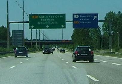 P� Sj�lland p� vej mod Odden.