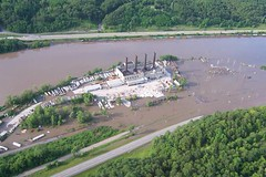 Mohawk River Flooding at Cranesville Block Co. on June 28, 2006.