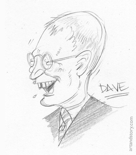 Sketch of Dave Letterman