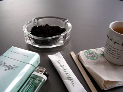 Starbucks Ashtray in Thailand