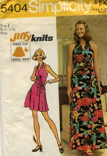 Halter dress pattern, 1972