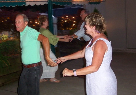 Kathy Lindstrom and husband dancing