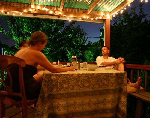 Brandy, Julius, back deck