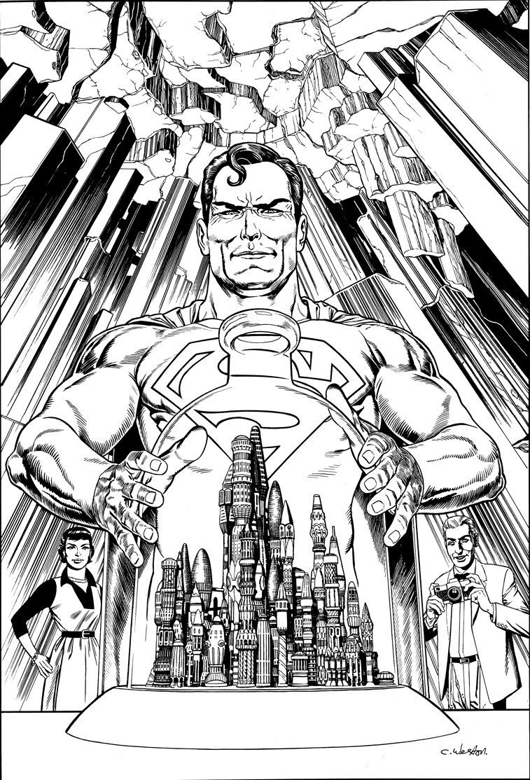 Superman Kandor pin-up1