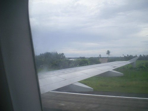 touch down - kalibo airport runway