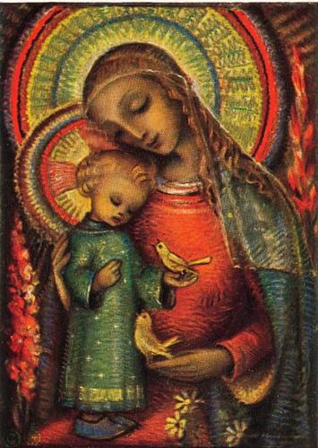 Maria mit dem Jesuskind von B. Hummel