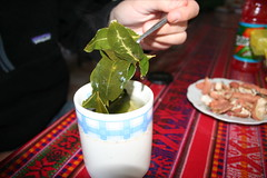 Coca leaves...helps with the altitude (& illegal in most countries)