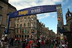 Entrance to Royal Bank on the Royal Mile