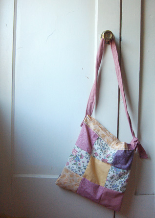 patchwork bag-long strap