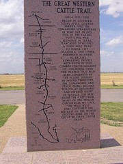 The Great Western Cattle Trail Monument