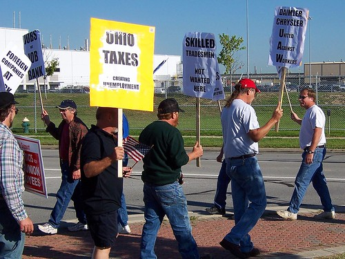 Jeep workers protesting Dr. Z